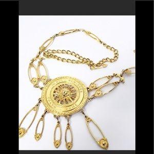 Vintage gold link belt
